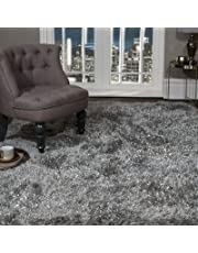 VICEROY BEDDING SHAGGY RUG Super Plush Extra Large Rugs Living Room with SHIMMERING SPARKLE GLITTER STRANDS Fluffy 55mm Thick Pile Height Modern Area Rugs -