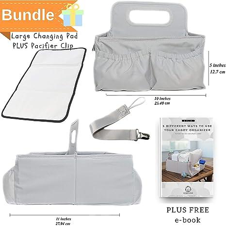Amazon.com: Bebé Bolsa de Pañales Caddy Organizador con ...