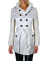 Damen Trenchcoat mit Spitze Jacke Mantel Übergangsjacke Blogger , F806