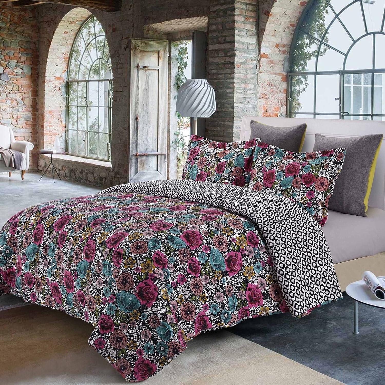 Shanti Terracotta 3 Piece King Size Quilt Set Blanket w// 2 Matching Pillow Shams