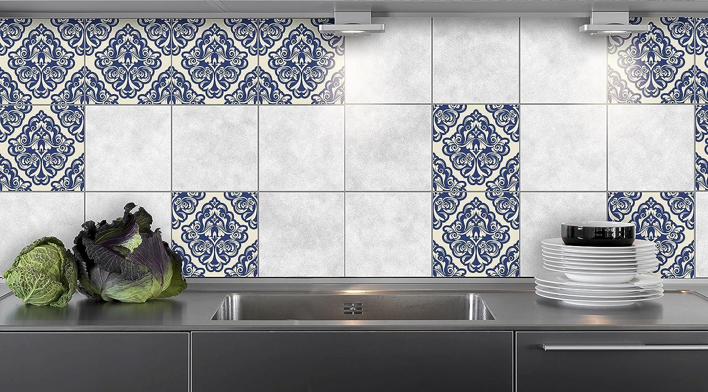 16pcs Autocollants de Carreaux de Cuisine Mural Film de Vinyle pour des id/ées de tuile de Mur de Salle de Bains de diff/érentes Tailles