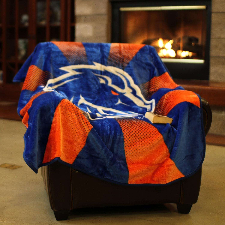 Logo Brands NCAA North Carolina State Wolfpack Raschel Throw Blanket