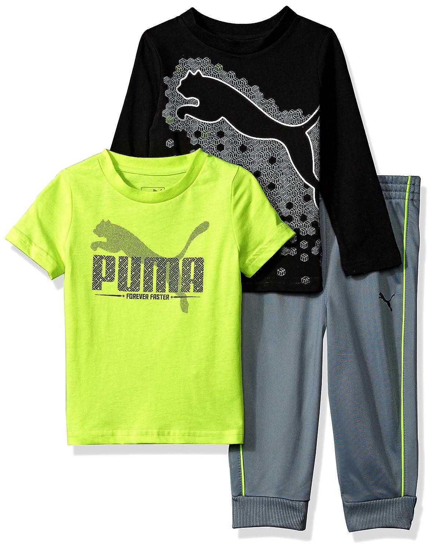 PUMA Boys Boys' Three Piece T-Shirt and Pant Set Sweatsuit