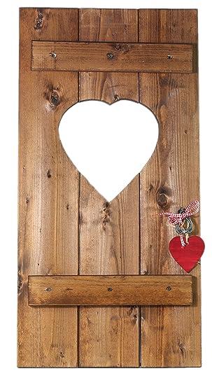 Holz Dekoration amazon de fensterladen herz holz dekoration hochzeitsgeschenk