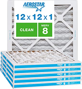Nordic Pure 20x36x1 Exact MERV 8 Pleated AC Furnace Air Filters 6 Pack