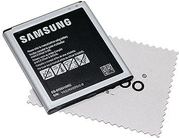 Batería para Samsung Original para Samsung Galaxy J5 (J500) EB-BG531BBE con mungoo pantalla paño de limpieza: Amazon.es: Electrónica