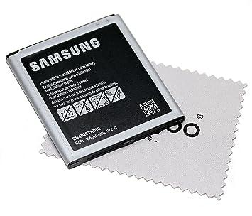 Batería para Samsung Original para Samsung Galaxy J5 (J500) EB-BG531BBE con mungoo pantalla paño de limpieza