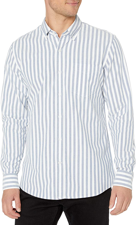 Brand Goodthreads Mens Standard-fit Long-Sleeve Fashion Stripe Oxford Shirt