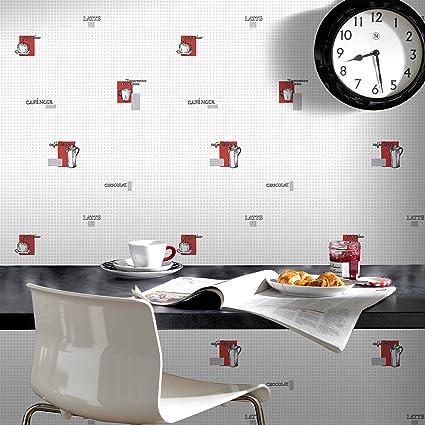 Contour Espresso Kitchen Bathroom Grey Red Durable Wallpaper Amazon