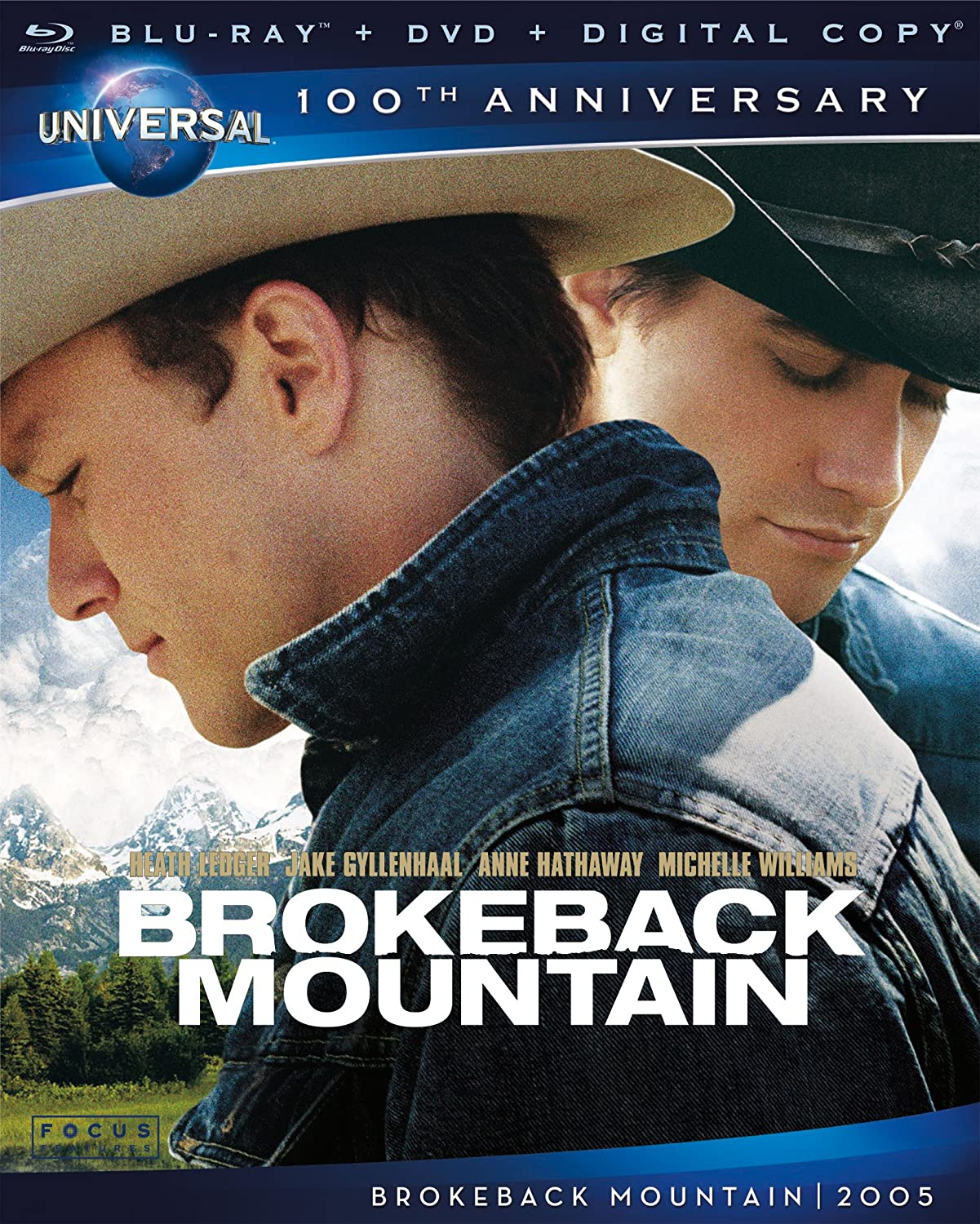 Amazon Com Brokeback Mountain Blu Ray Heath Ledger Jake Gyllenhaal Michelle Williams Anne Hathaway Linda Cardellini Randy Quaid Scott Michael