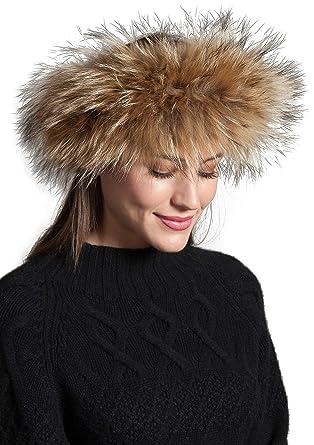Asiatic Raccoon Fur Headband at Amazon Women s Clothing store  721c1fb051d3
