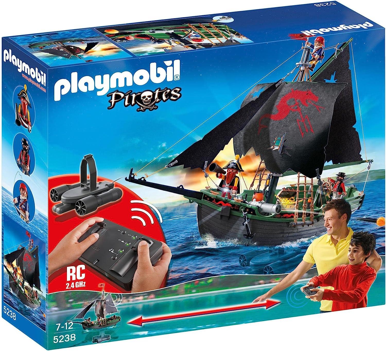 Playmobil Piratas Barco Pirata Con Control Remoto 5238 Amazon Es Juguetes Y Juegos