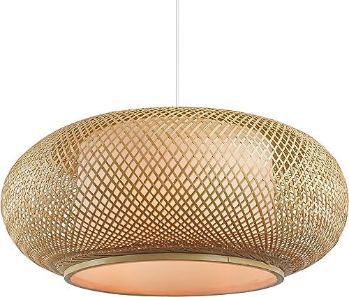 RUNNUP Vintage Bamboo Woven Light Creative Chandeliers Decoration Chandelier Pendant Light Wicker Light