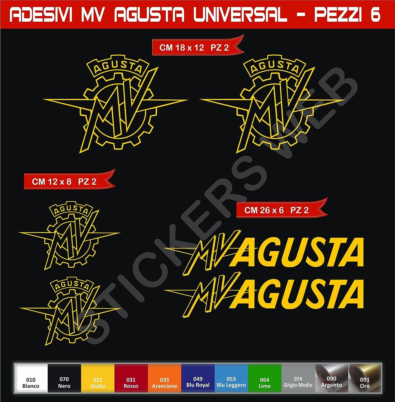 Adesivi stickers MV AGUSTA Universal kit 08 Pezzi SCEGLI COLORE moto motorbike Cod.0581