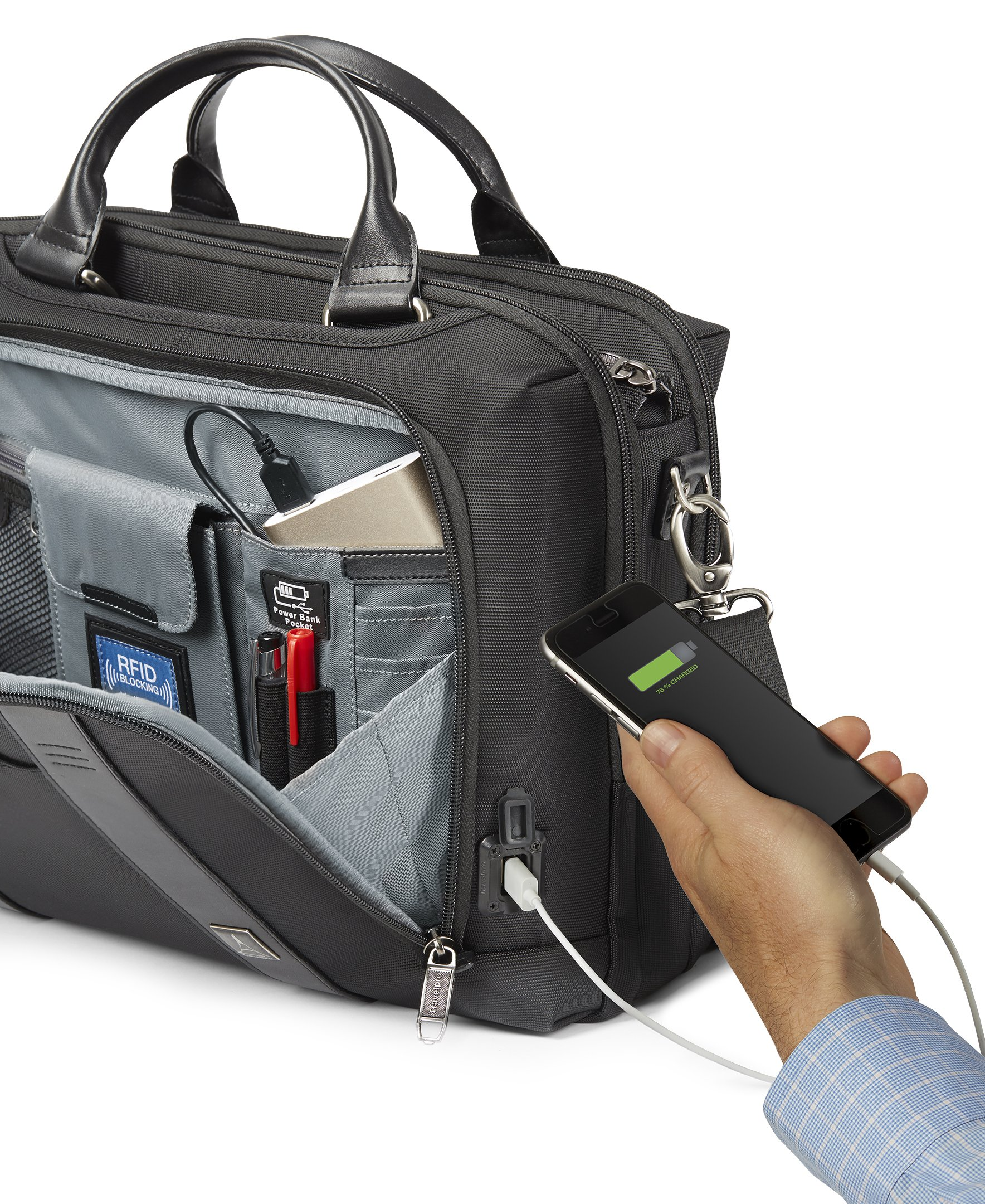 Travelpro Crew Executive Choice 2 Pilot Under-Seat Brief Bag, 16-in with USB port by Travelpro (Image #2)