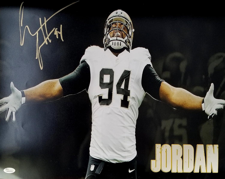 Cam Jordan Autographed Signed 16x20 New Orleans Saints JSA