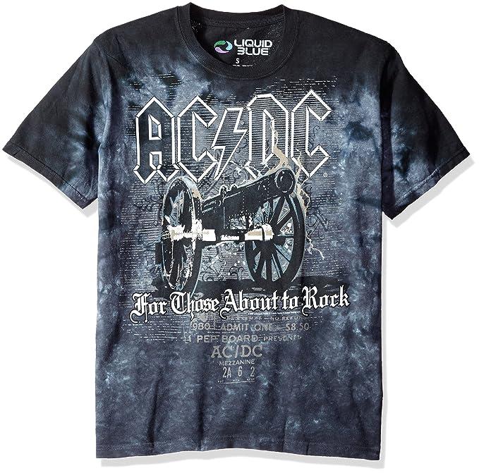 9934857c1dc Amazon.com  Liquid Blue Men s Ac Dc Cannon Short Sleeve T-Shirt ...