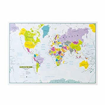 Glow in the dark childrens world wall map poster 841 cm w glow in the dark childrens world wall map poster 841 cm w gumiabroncs Gallery