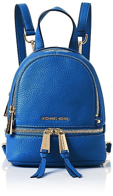 584379fe940a Michael Kors Rhea Zip XS Convertible Messenger Backpack/Crossbody ,Electric  Blue
