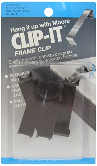 moore push pin clip it frame clips 4 clips per pack