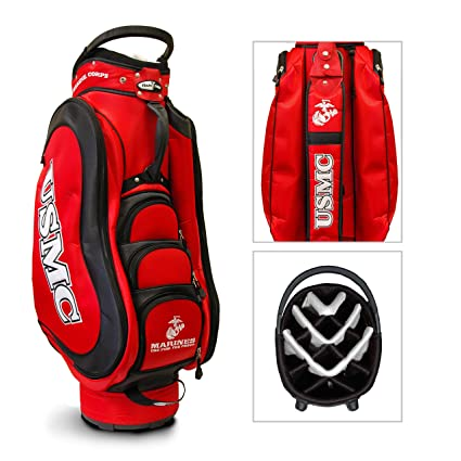 c884f1333bf4d0 Amazon.com   U.S. Marine Official NCAA Medalist Cart Bag   Golf Club ...