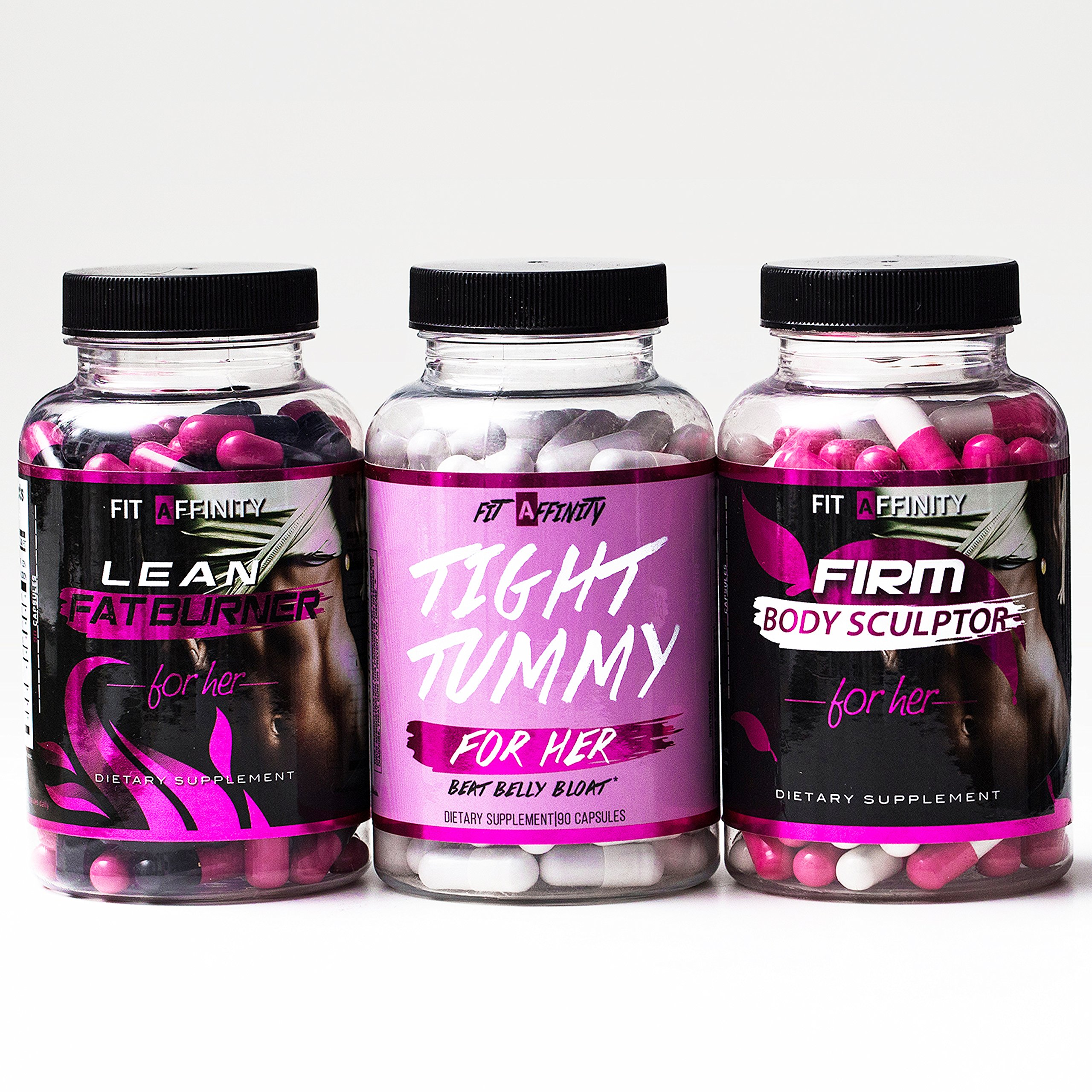 Fit Affinity - Weight Loss Bundle - Lean Fat Burner, Tight Tummy, Firm Body Sculptor