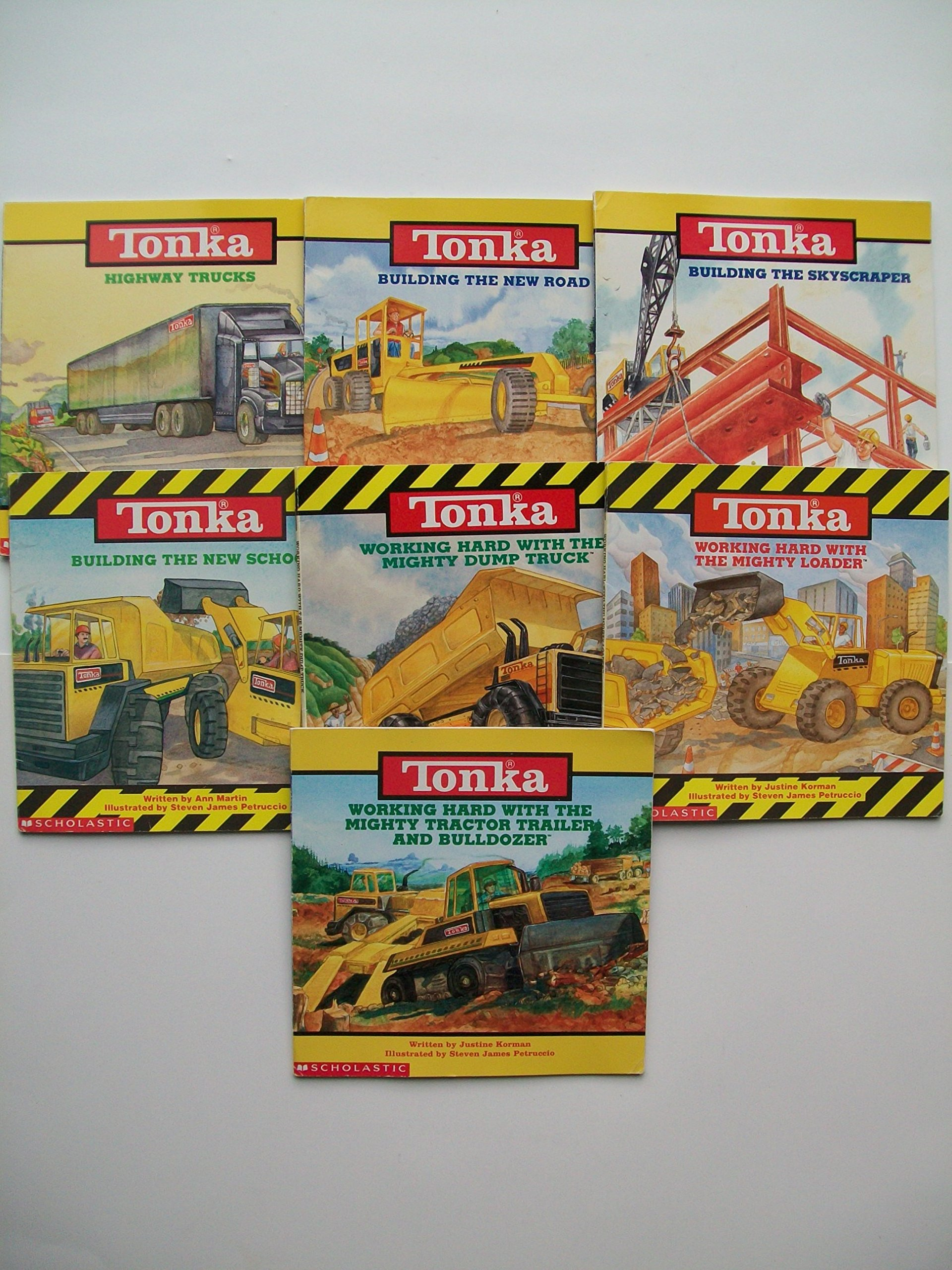 Tonka Picture Book Series (Set of 7) Highway Trucks; Building the New Road;  Building the Skyscraper; Building the New School; Mighty Dump Truck; ...