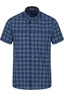 Mountain Warehouse Holiday Camisa de Algodón para Hombre - Camisa de Verano Easy Care, Camisa Informal Ligera, Parte Superior de…