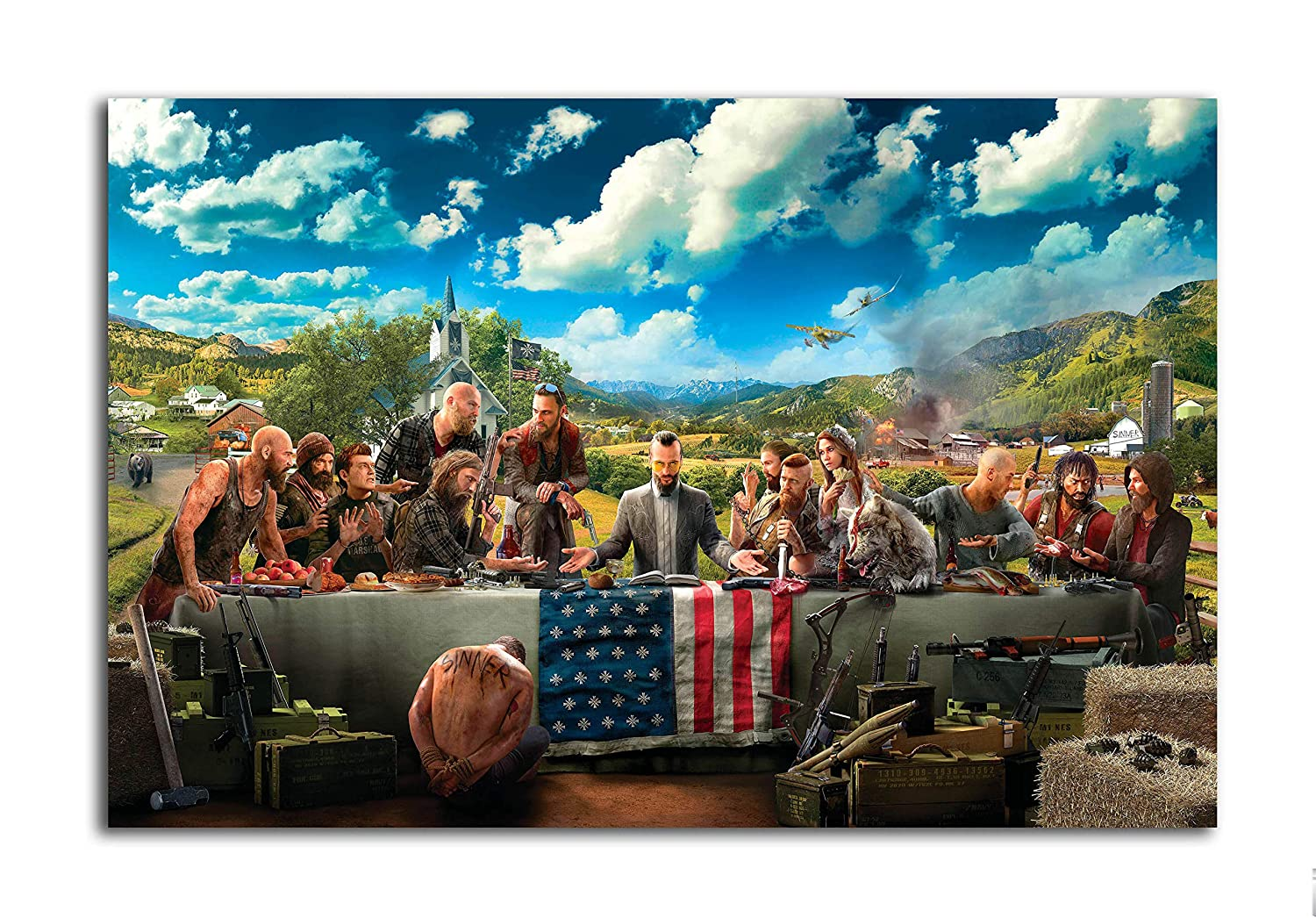 Tamatina Gaming Poster Far Cry 5 Cover Poster For Home Decor Large Size Poster Hd Quality 36 Inches X 24 Inches 92 Cms X 61 Cms Amazon In Home Kitchen