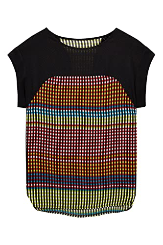 next Mujer Top Paneles Perforado Regular Camiseta