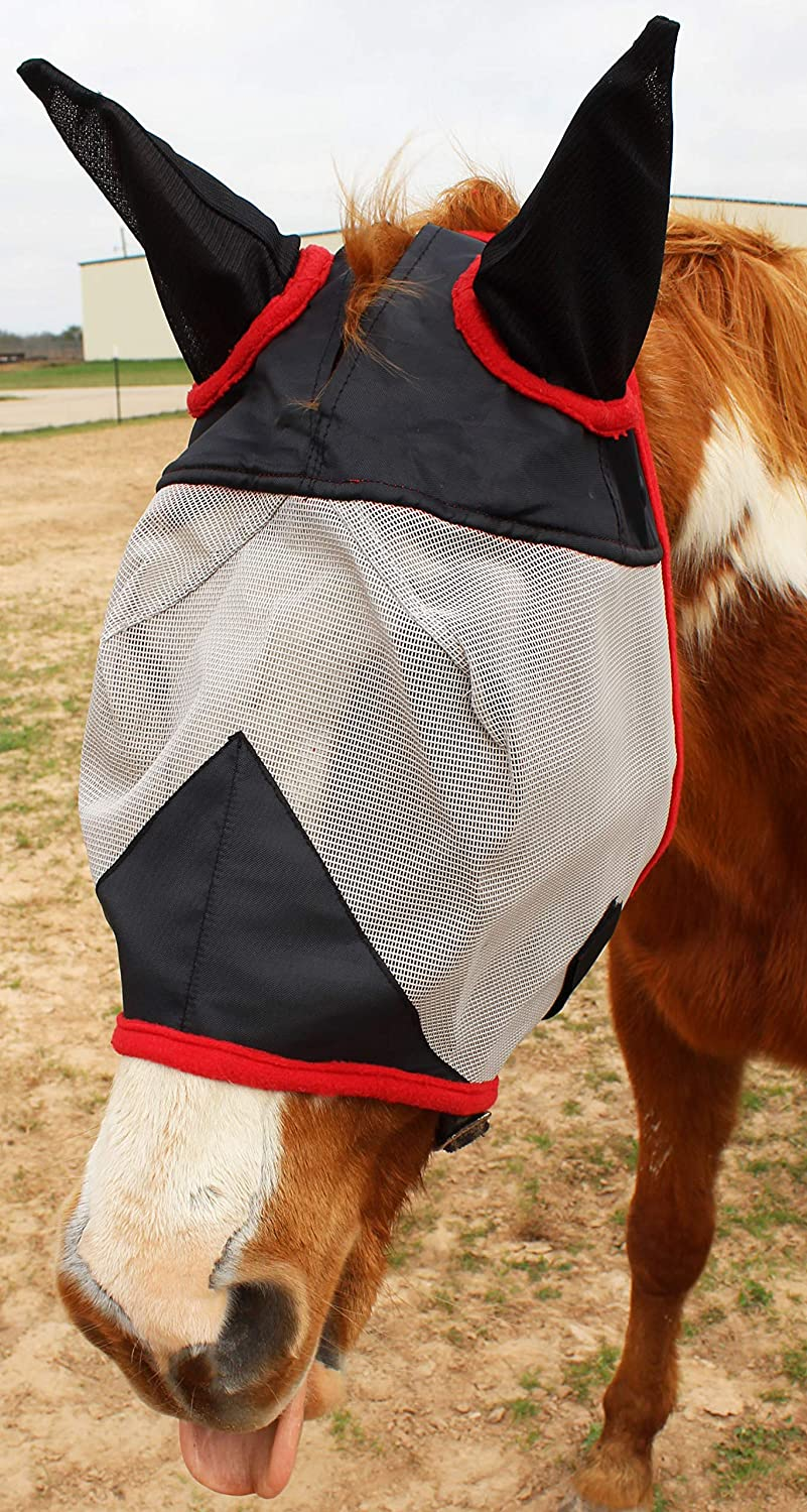 CHALLENGER Equine Horse Fly Mask Summer Spring Airflow Mesh UV Mosquitoes 73217