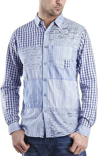 Desigual Himself, Camisa para Hombre, Azul (Ducados) S ...