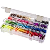 ArtBin Floss Finder with Dividers10.75 7.375-inch x 1.75-inch Translucent, Acrylic, Multicoloured, 1.65 x 10.65 x 6.9 cm