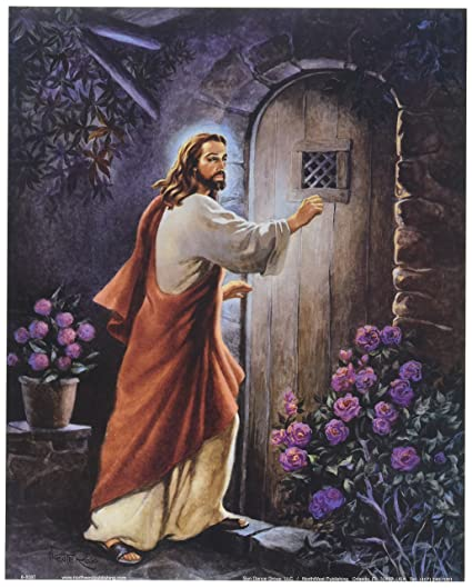 Jesus Knocking on your Door Religious Wall Picture 8x10 Art Print  sc 1 st  Amazon.com : jesus door - Pezcame.Com
