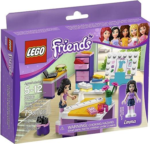Amazon Com Lego Friends Emma S Design Studio 3936 Toys Games