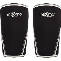 Ginocchiere (1 Paio) - Neoprene 7 mm Knee Sleeves - Supporto e Compressione per il CrossFit, WeightLifting, la Corsa, lo Sci e lo Sport in Generale. Sia per l'Uomo che per la Donna.