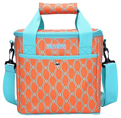 Image Unavailable. Image not available for. Color  MIER 9 Can Insulated  Lunch Bag for Women Leakproof Soft Cooler Tote ... 58146ceecf397