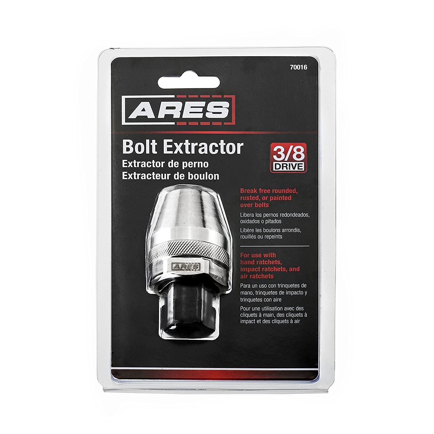 Damaged Bolt and Stud Extractor Tool | ARES 70016 | Grips & Removes 1/4 to  1/2 Studs Ideal for Broken Rounded Off Painted Over & Rusted Tight Bolts