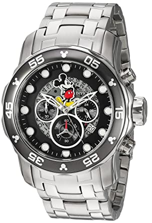 Invicta Men's 'Disney Limited Edition' Quartz Stainless Steel Casual Watch,  Color Silver-
