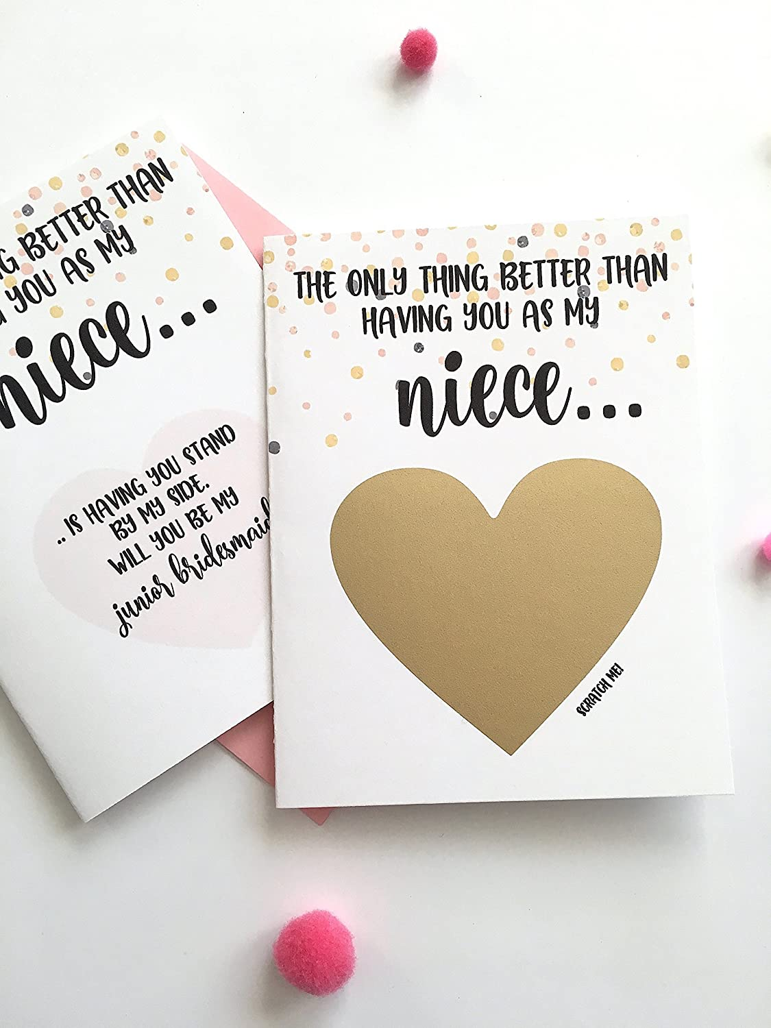 Will You Be My Junior Bridesmaid Scratch Off Card for Niece