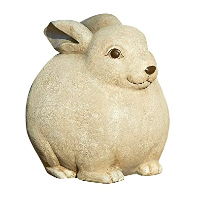 Roman Pudgy Pal Garden Figure, 75300, Standing Rabbit, 7.25 inches tall : Outdoor Statues : Garden & Outdoor