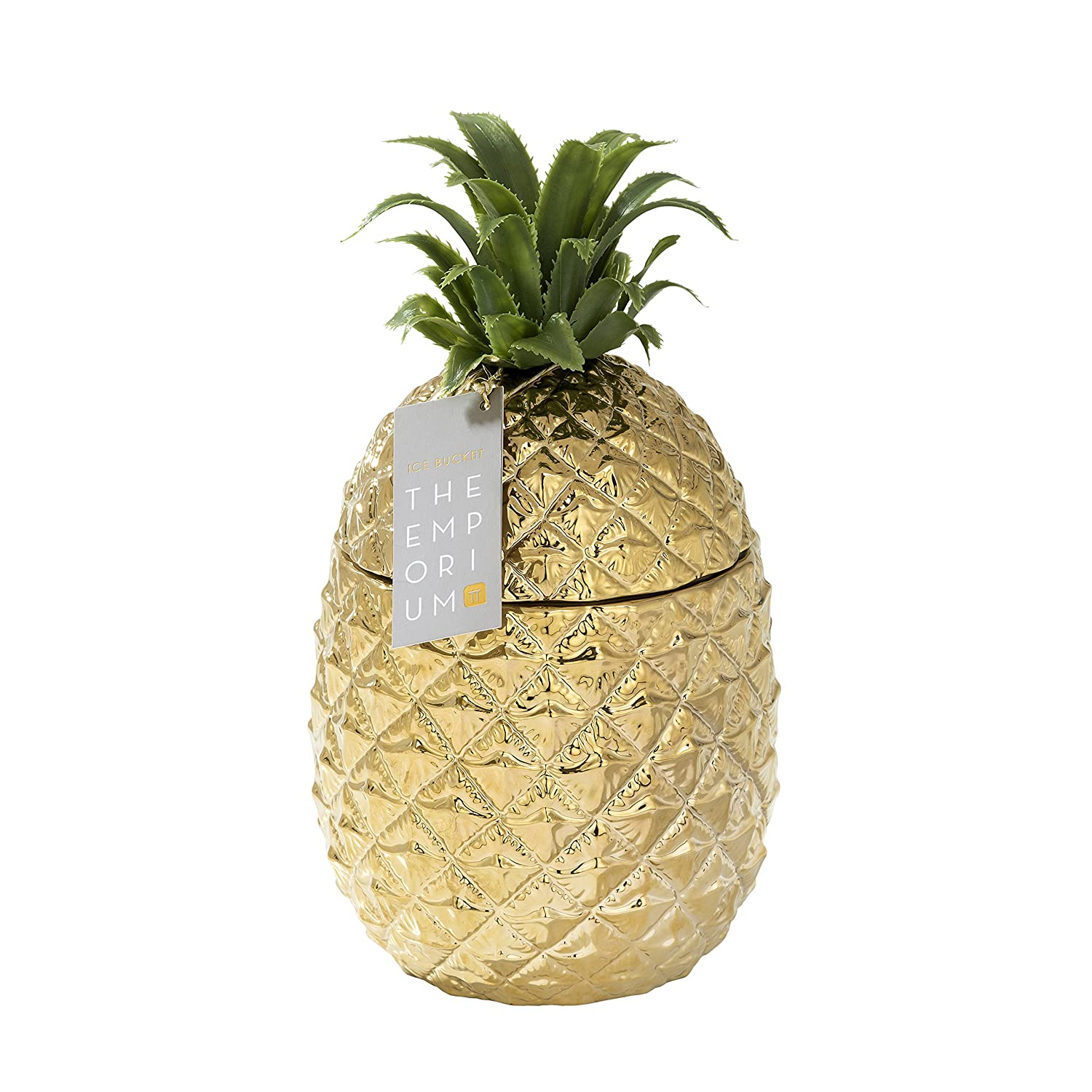 723336bd Talking Tables Emporium Gold Pineapple Ceramic ICE Bucket, Paper,  Multi-Colour, 21.5 x 21.5 x 27 cm: Amazon.co.uk: Kitchen & Home