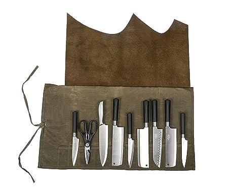 Funda de piel auténtica multiusos para cuchillos y ...