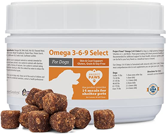 Project Paws Omega 3-6-9 Select Soft Chews 60 Count