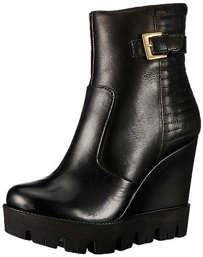 Buffalo Damen Marble Antico Leather Stiefeletten, Schwarz (Black 01 00), 36  EU 6b7a5a85ee