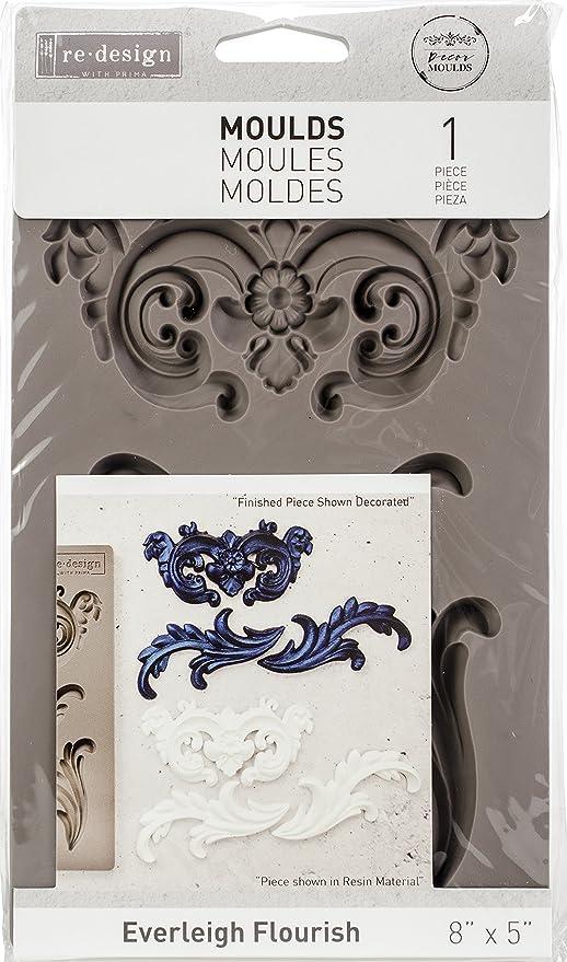 Prima Re-Design dise/ño de flores Molde para decoraci/ón