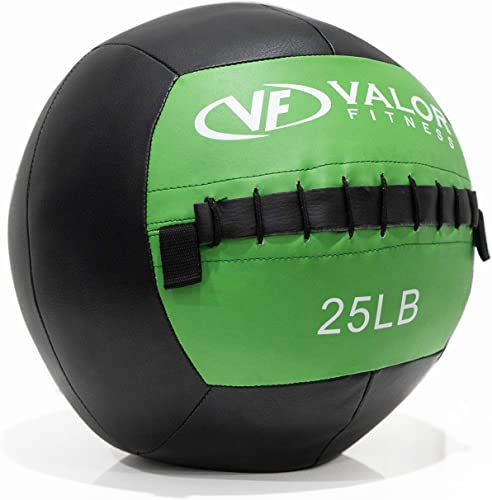 Valor Fitness WB Wall Balls Medicine Balls with Soft, Color-Coded Panel for Strength and Conditioning and Cross Training - Multiple Weight Options Available