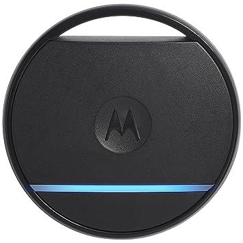 Motorola Connect Coin - Porte-clés connecté avec localisation, bouton selfie et SOS,