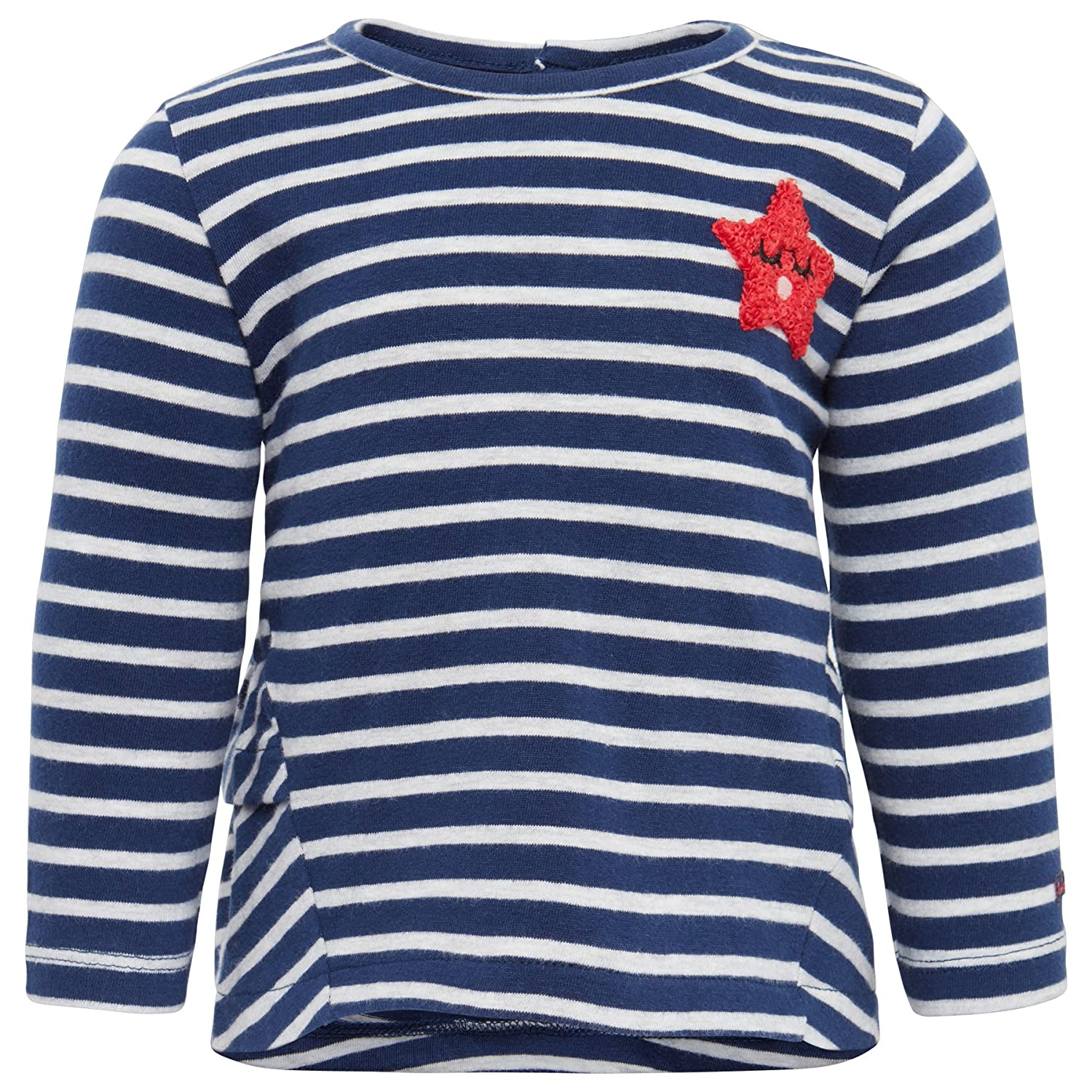 TOM TAILOR Baby-Mädchen Langarmshirt Striped T-Shirt with Badge TOM TAILOR Kids 10386320021