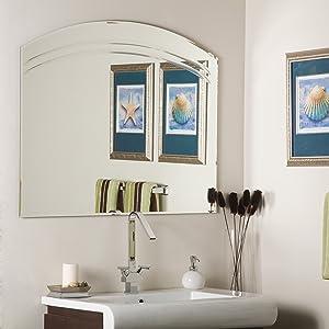 Decor Wonderland Angel Frameless Wall Mirror, Large